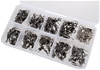 Set of 97 x Barrel Swivels with Interlock Snap, Assorted Sizes. Buyers Note