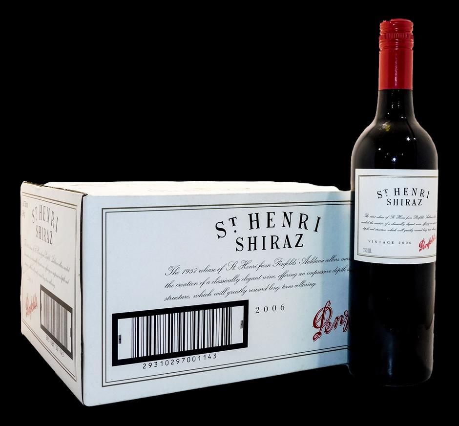 Penfolds St Henri Shiraz 2006 (6x 750mL), SA