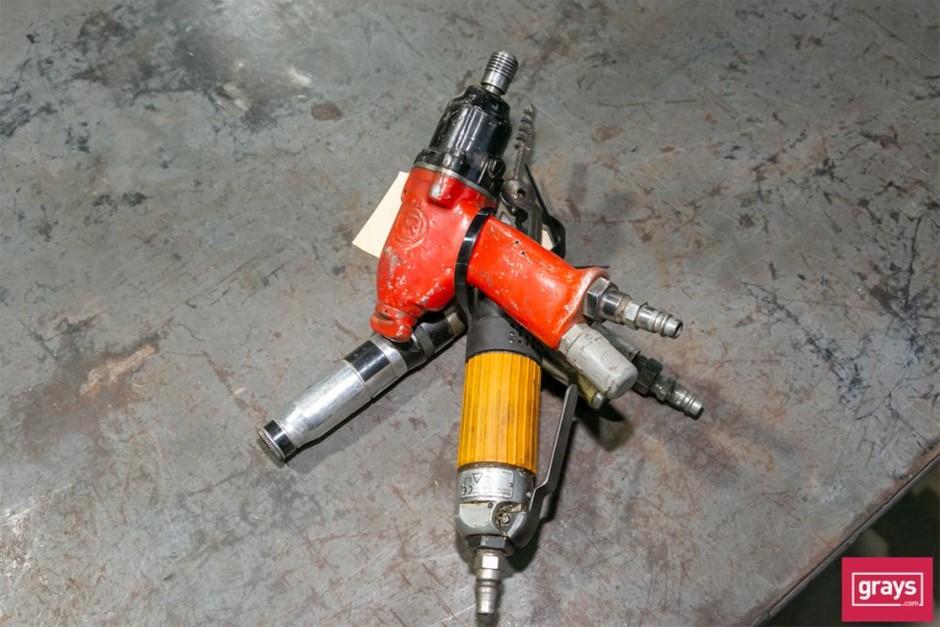 3x Assorted Pneumatic Tools