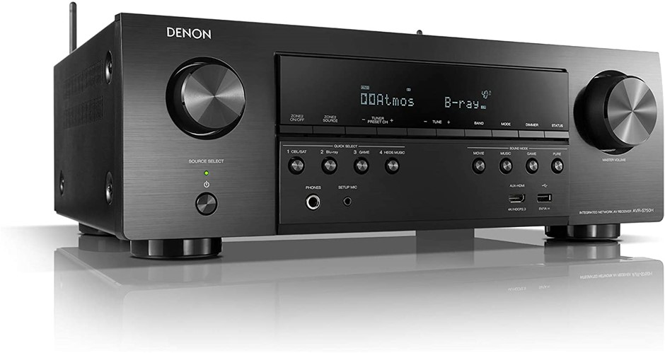 Denon Avr-S750H Receiver, 7.2 Channel (165W X 7) - 4K Ultra HD Home Theater