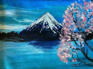 Mount Fuji - Original paintedl artwork s