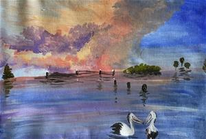 Long Jetty - Original paintedl artwork s