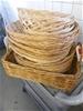 Qty 13 x assorted Cane Baskets