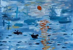 Monet inspired - Original paintedl artwo