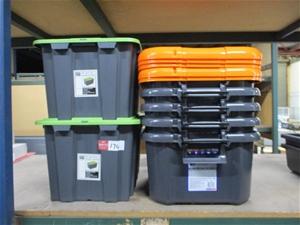 Qty x7 Plastic Tubs with lids