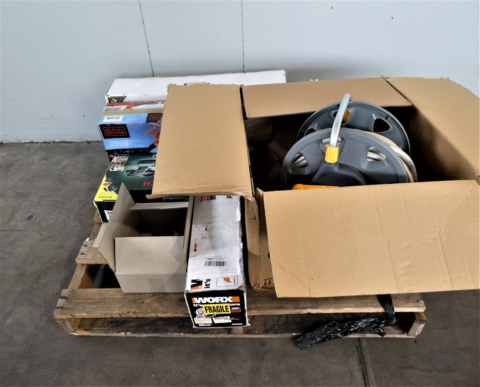 Pallet Of Assorted Used & Untested Power Tools and Accessories