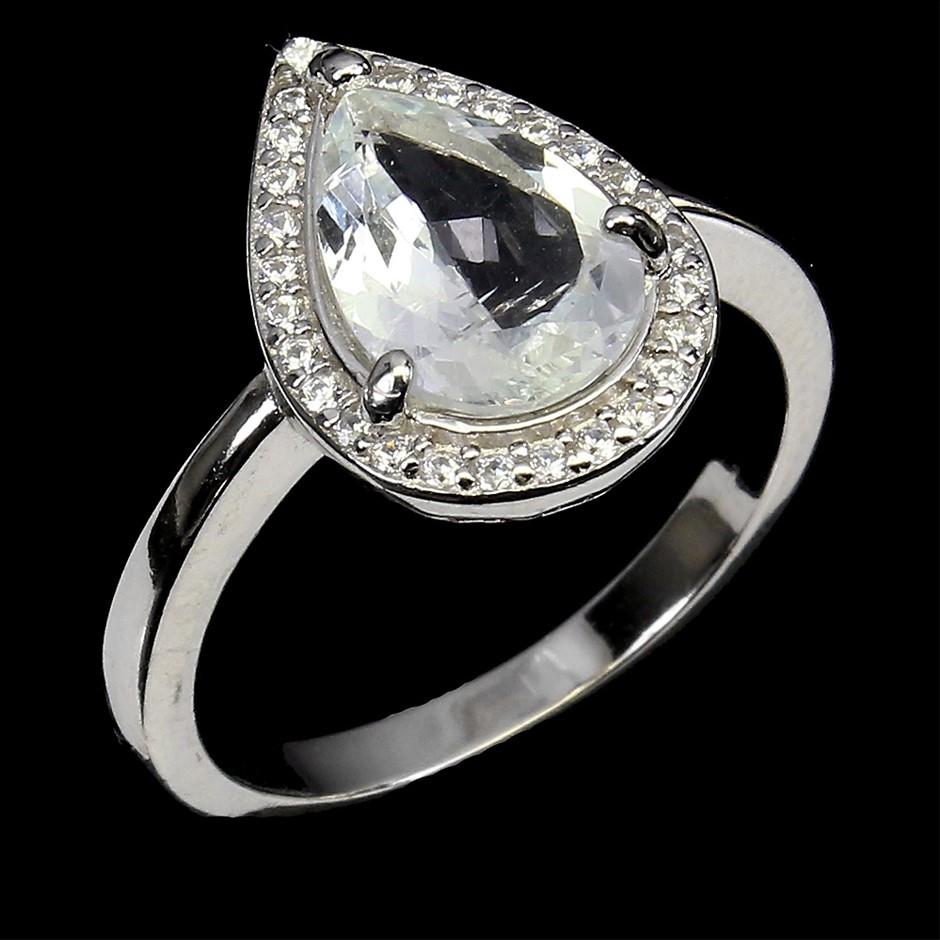 Amazing Genuine Santa Maria Aquamarine Ring