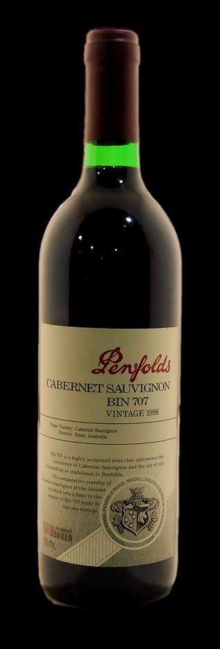 Penfolds Bin 707 Cabernet Sauvignon 1998 (1x 750mL), SA