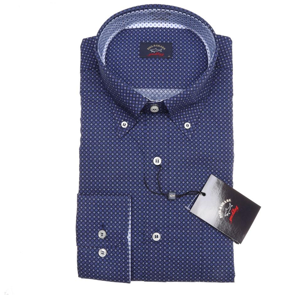 PAUL & SHARK Men`s L/S Shirt, Size 42 EU/ 16 1/2 UK, Cotton RRP$350, Colour