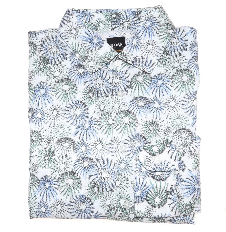 HUGO BOSS Men`s L/S Dress Shirt ,Size L, Slim Fit, RRP $199, Cotton, Colour