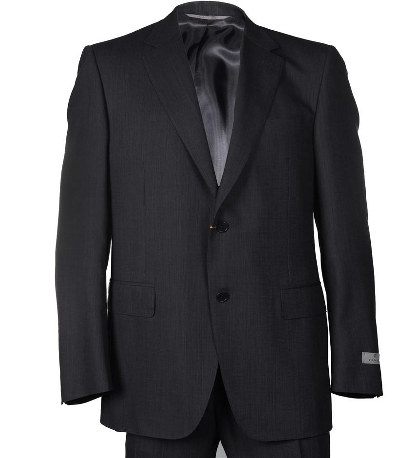 CANALI Men`s Suit, Size 52S EU/ 42 UK, 100% Wool, RRP $2695, Colour: Dark G