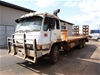 1985 Mitsubishi Flat Top 6 x 2 Beavertail Truck