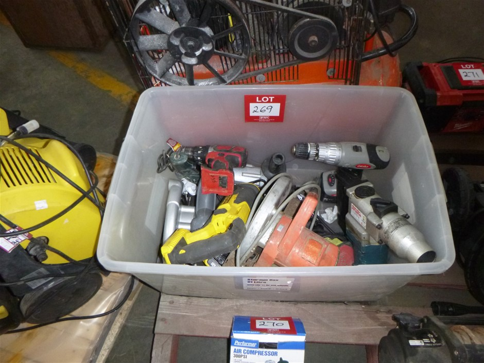 Box Assorted Power Tools