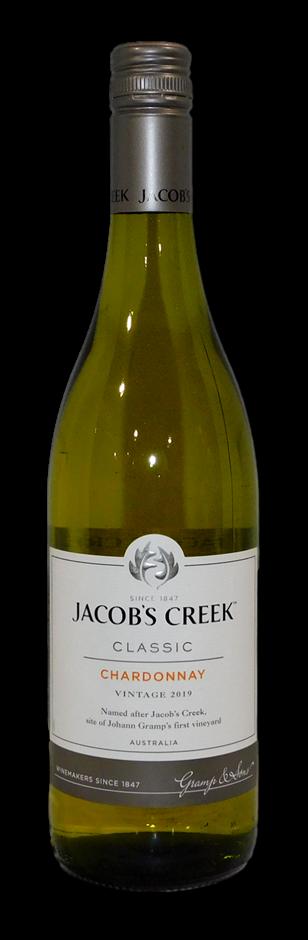 Jacobs Creek Classic Chardonnay 2019 (6 x 750mL), SA