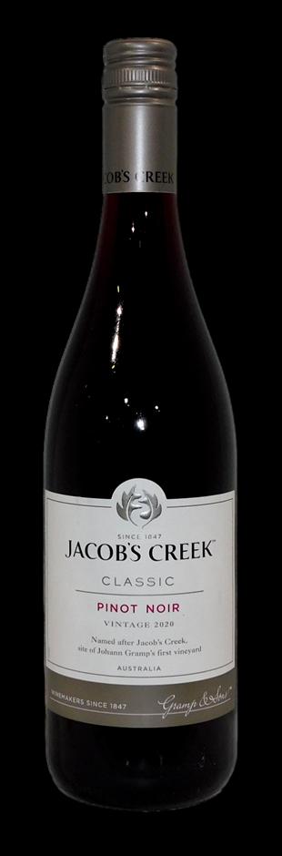 Jacobs Creek Classic Pinot Noir 2020 (6 x 750mL), SA