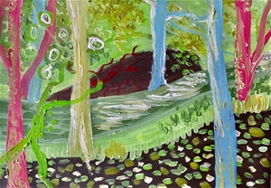 Forest Greens - Original paintedl artwor