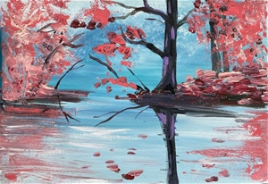 Misty Maples - Original paintedl artwork