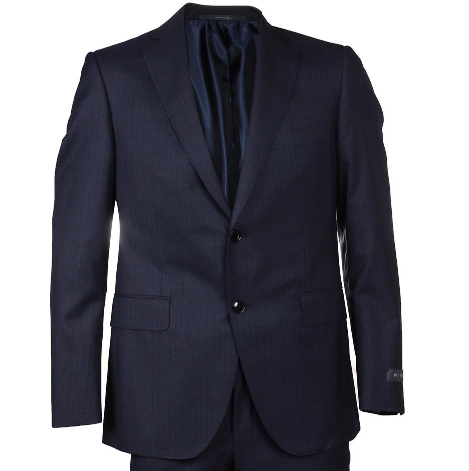 PAL ZILERI Men's Suit, 100% Wool, Size 50S EU/ 40 UK, RRP $2495,Colour: Nav