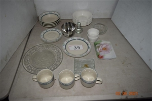 Lot of 24 Assorted Bowls, Plates, Cups