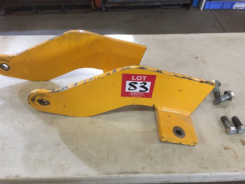 2 x concrete panel lifting brackets, 580mm x 250mm, holes at 190mm centers.