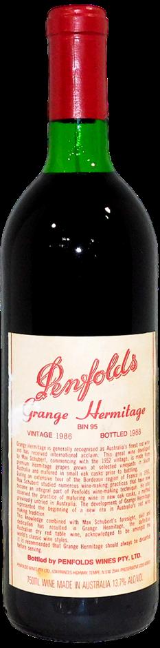 Penfolds Bin 95 Grange Hermitage 1986 (1x 750mL), SA