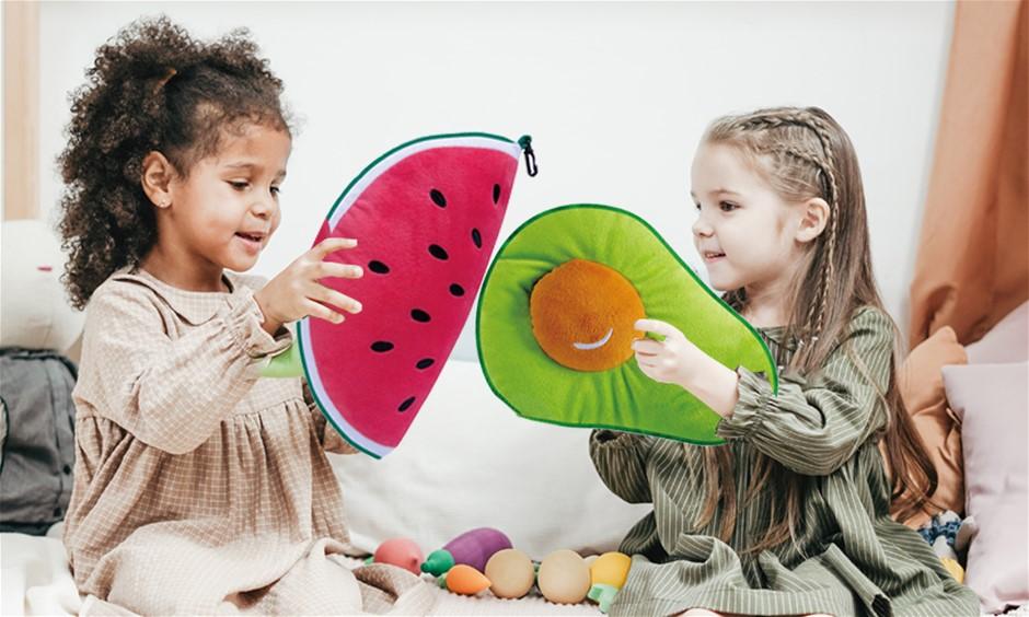 Reversible Travel Pillow Watermelon Sleep Cervical Sup Kids Cute Plush Toy