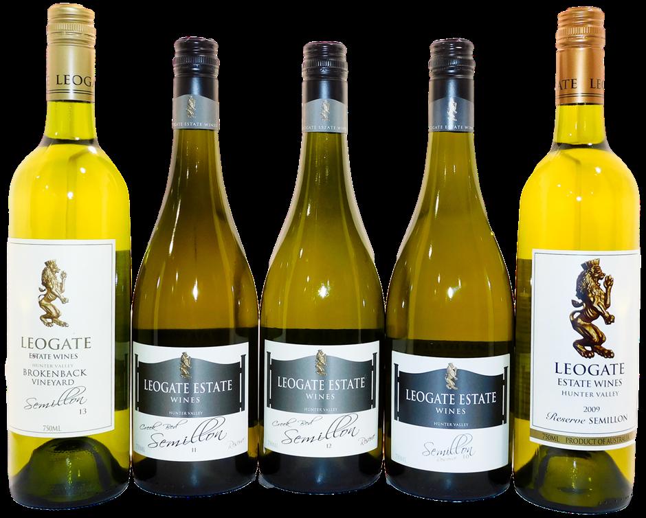 Mixed Leogate Estate Wines Semillon 2009-2013 (5x 750mL)