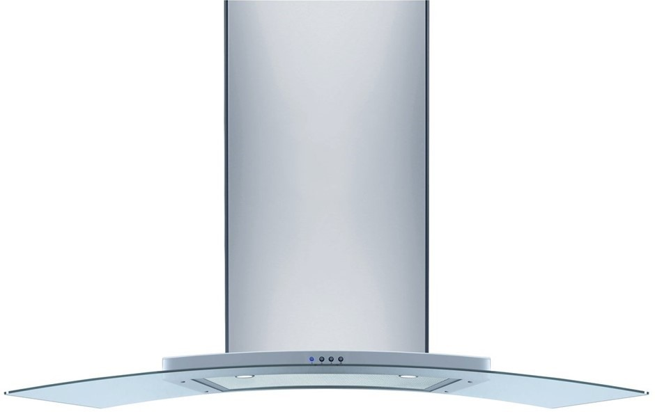 ORC97G OMEGA 90CM CANOPY RANGEHOOD S/STEEL WITH CURVED GLASS