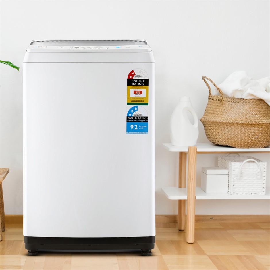 Devanti 7kg Top Load Washing Machine Quick Wash 24h Delay Start Automatic
