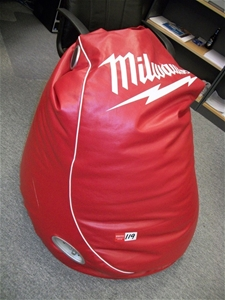 Bean Bag Milwaukee Red Vinyl Cover Radio With