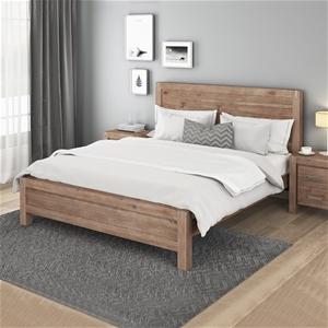 Bed Frame King Size in Solid Wood Veneer