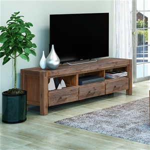 TV Cabinet with 3 Storage Drawers with S