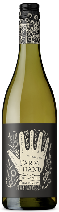 Farm Hand Organic Chardonnay 2020 (6 x 750mL), SA.