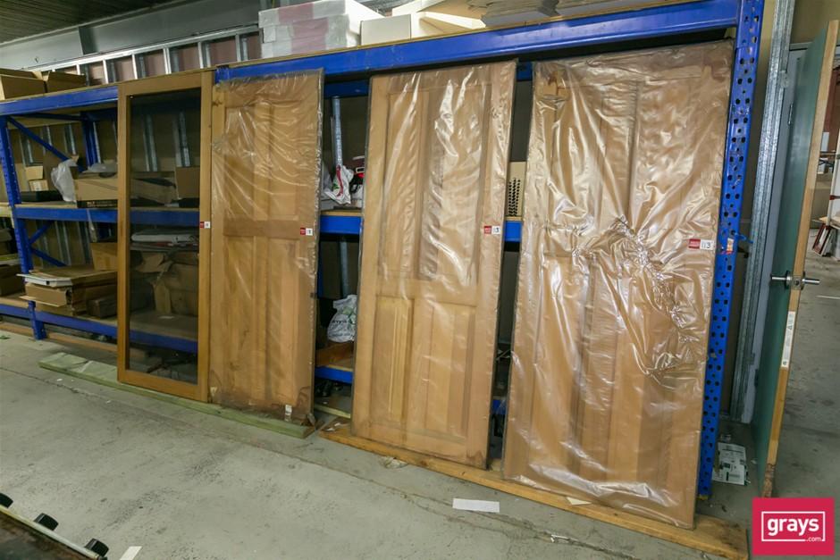3x Solid Cedar Timber Internal Doors