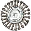 MERCER ABRASIVES Knot Wire Wheel 150mm x 5/8ins x 5/8ins- 11, Standard Twis