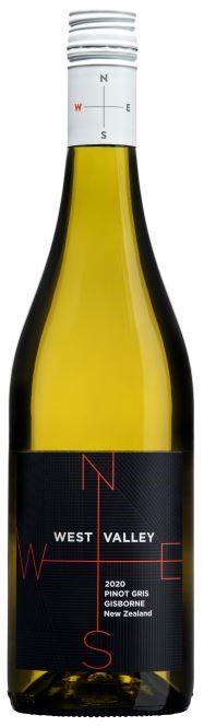 West Valley Pinot Gris 2020 (12 x 750mL) Gisborne, NZ