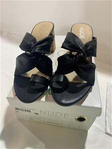 Nude Ezara Black Leather - Size 38