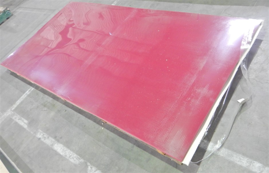 Qty of 14 Red High Gloss Acrylic Panels (Pooraka, SA)