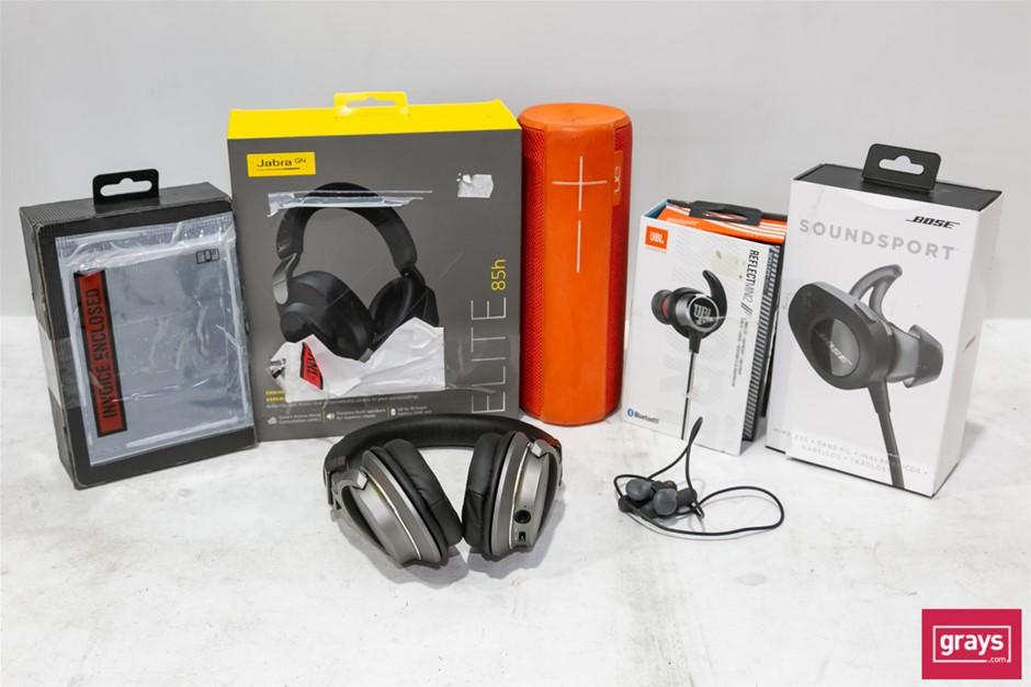 Bundle of Used & Untested Assorted Headphones, Earphones and Speakers
