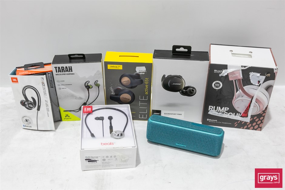 Bundle of Used & Untested Headphone & Speaker