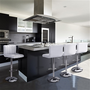 Artiss 4x Leather Bar Stools Kitchen Cha