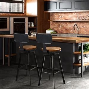 Artiss 2x Vintage Bar Stools Kitchen Bar