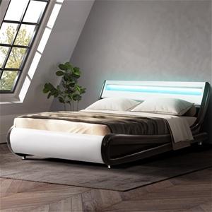 Artiss LED Bed Frame Queen Size Base Mat