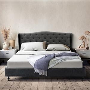 Artiss Double Bed Frame Base Mattress Pl