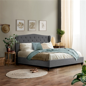 Artiss Queen Size Wooden Upholstered Bed