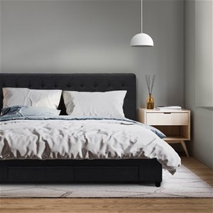 Artiss Double Size Fabric Bed Frame Head