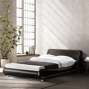Artiss Queen Size PU Leather Bed Frame -