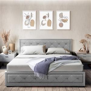 Artiss Bed Frame Double Full Gas Lift Ba