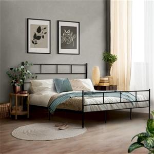 Metal Bed Frame Double Size Platform Fou