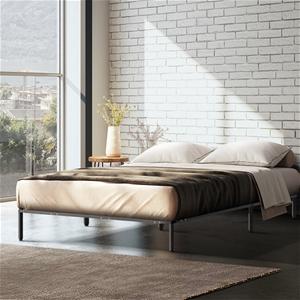 Metal Bed Frame Double Mattress Base Pla